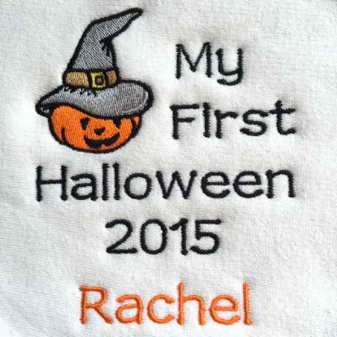 Personalised My 1st Halloween 2020 Babies Bib - Pumpkin